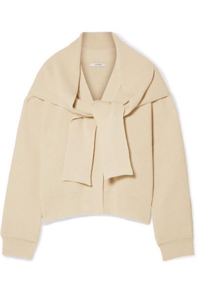 LE 17 SEPTEMBRE - Convertible Ribbed Cotton Cardigan - Cream