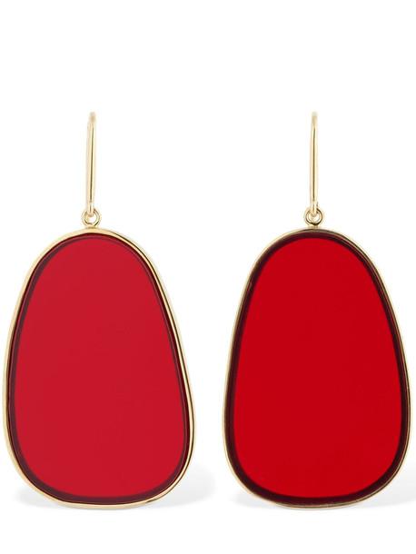 ISABEL MARANT Plexi Earrings in red