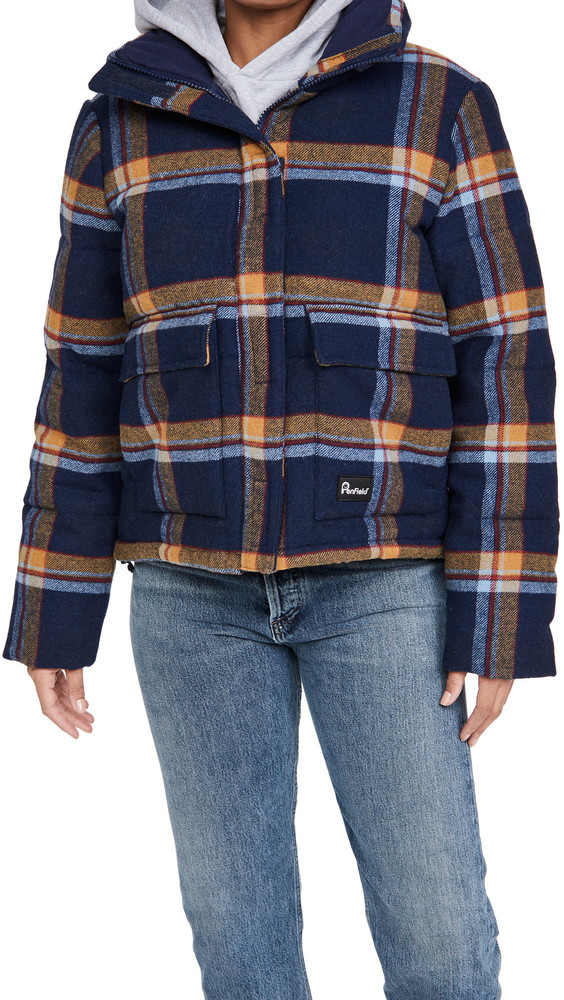 Penfield Wyeford Check Jacket in navy