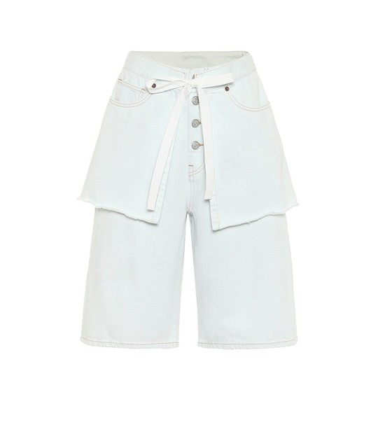 MM6 Maison Margiela High-rise denim shorts in blue