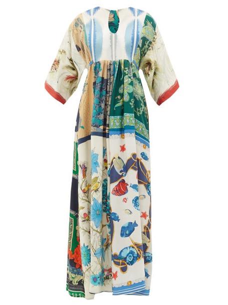 Rianna + Nina Rianna + Nina - Vintage Patchwork Silk Maxi Dress - Womens - Multi