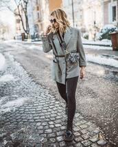 jacket,blazer,double breasted,zara,grey blazer,black boots,combat boots,lace up boots,black leggings,dior bag,black belt,black turtleneck top