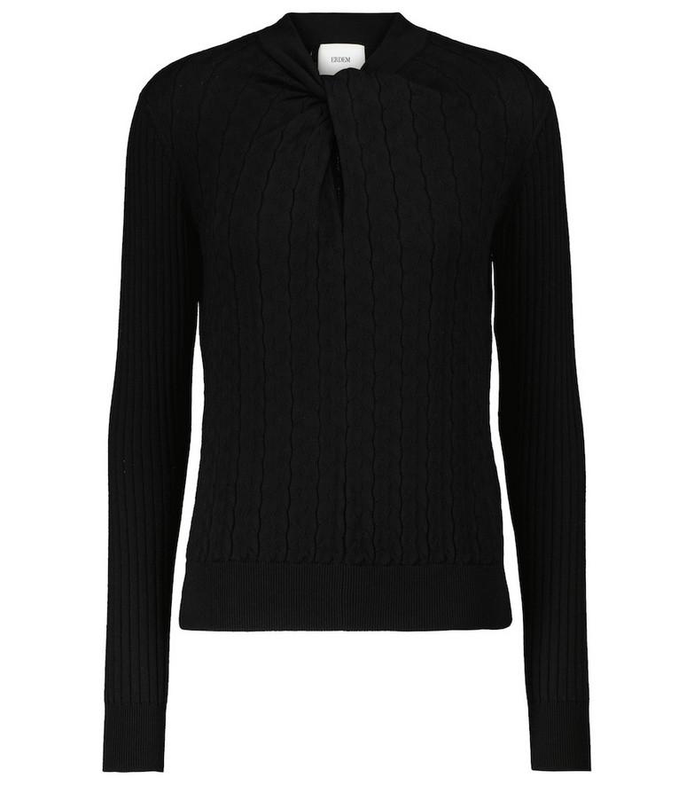 Erdem Rae cotton-blend sweater in black