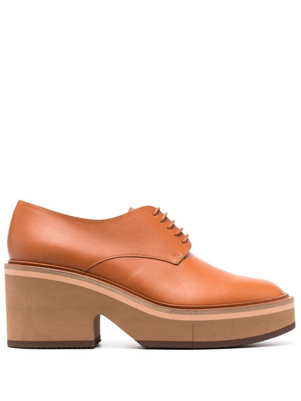 Clergerie Agathe lace-up shoes in brown