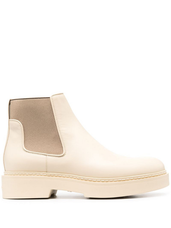 Santoni slip-on ankle boots in neutrals