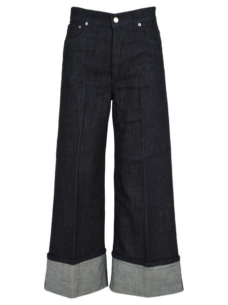 J.W. Anderson Jw Anderson Wide Leg Jeans in indigo