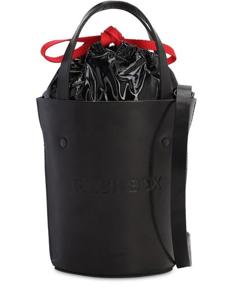 NANA NANA Sm Trash Box Leather Bucket Bag in black