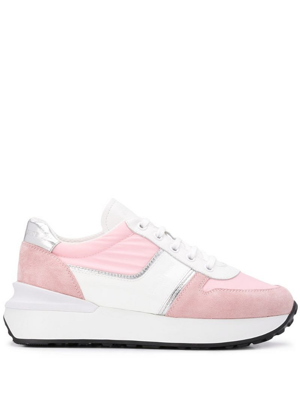 Car Shoe panelled low top sneakers in pink