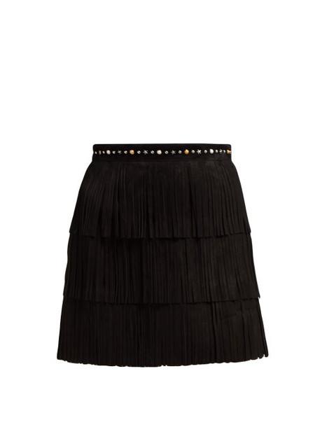 skirt mini skirt mini suede black