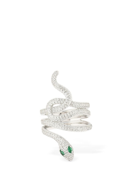 APM MONACO Serpentine Statement Ring in green / silver