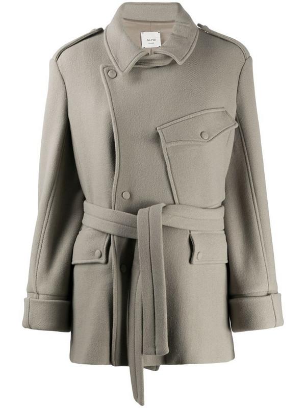 Alysi tie-waist jacket in neutrals