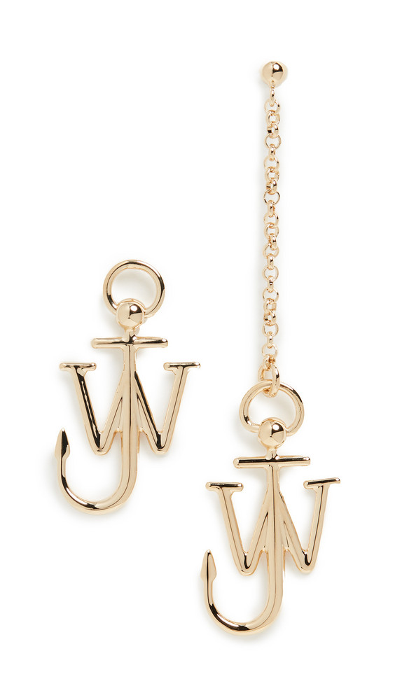 JW Anderson Asymmetric Anchor Earrings in gold