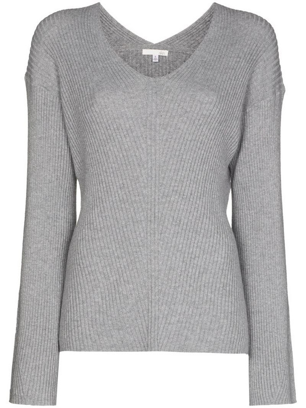 Skin Karla ribbed-knit jumper in grey