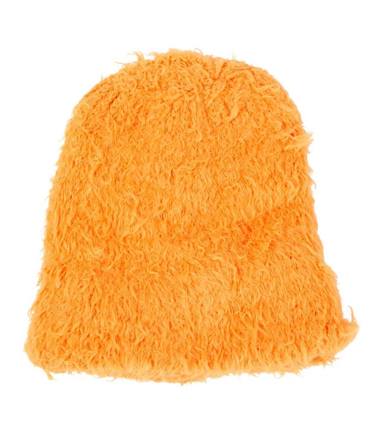 The Attico Oversized knit beanie in orange