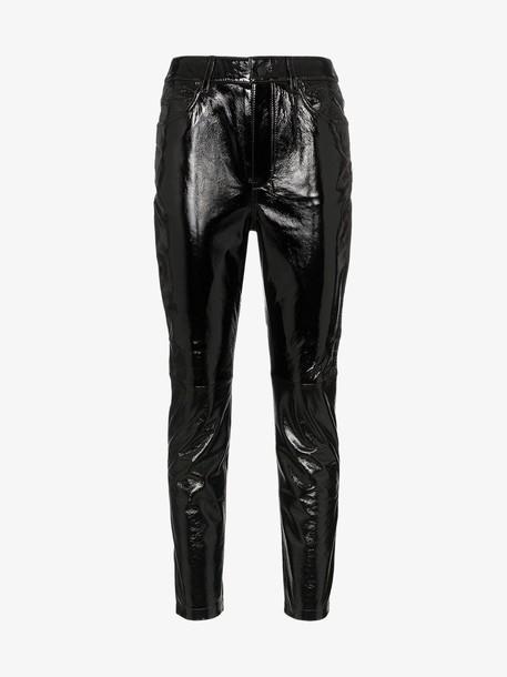 Ksubi dreams patent leather trousers in black