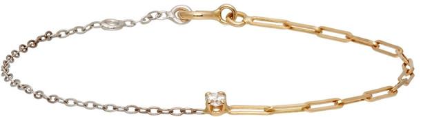 Yvonne Léon Gold & White Solitaire Diamond Bracelet