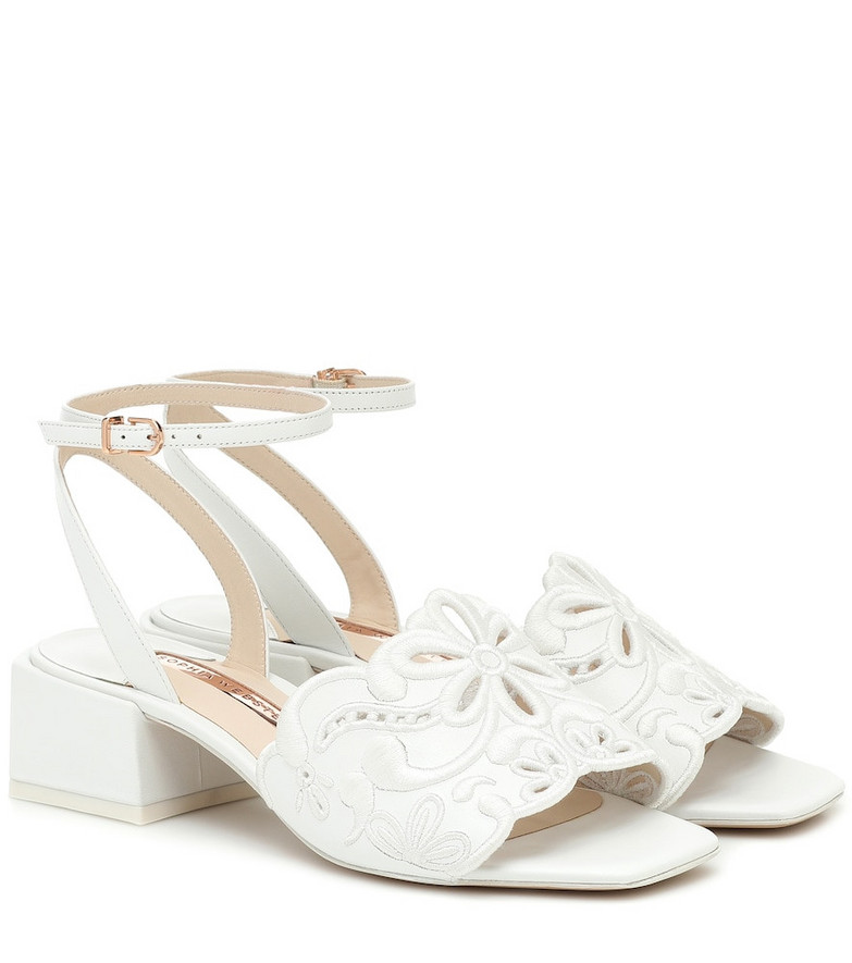 Sophia Webster Cassia leather sandals in white