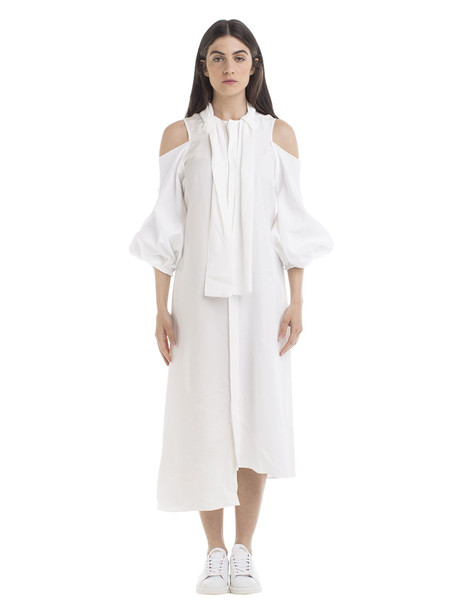 J.W. Anderson Puff Sleeve Dress in white