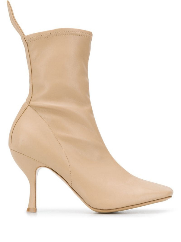 Gia Couture pointed ankle boots in neutrals