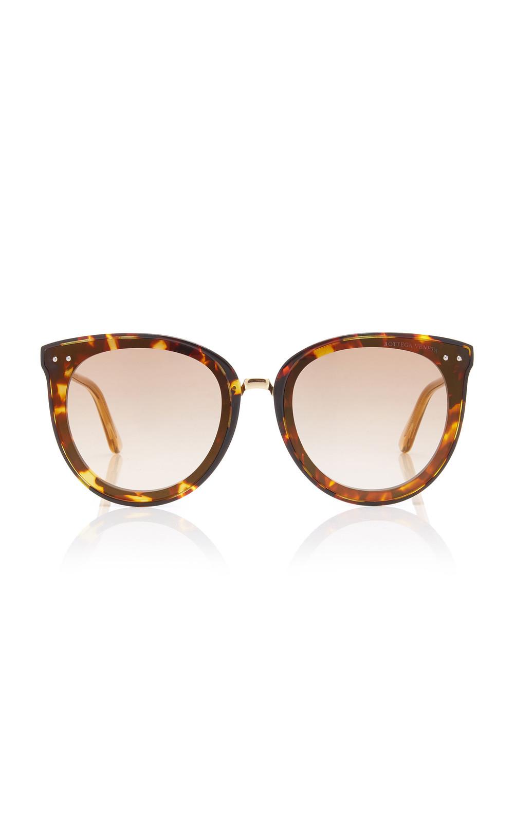 Bottega Veneta Sunglasses Oversized Tortoiseshell Acetate Cat-Eye Sunglasses in brown