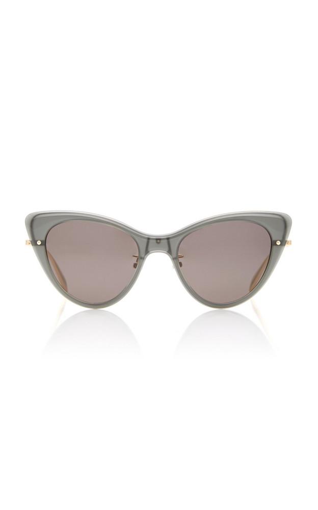Alexander McQueen Skeleton Cat-Eye Acetate Sunglasses in black