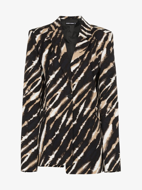 HOUSE OF HOLLAND Asymmetric zebra print blazer