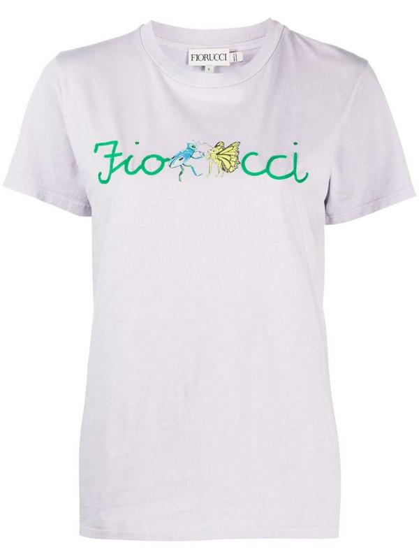 Fiorucci Dancing Bugs print T-shirt in purple