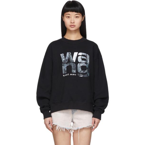 Alexander Wang Black Heavy Terry Sweatshirt