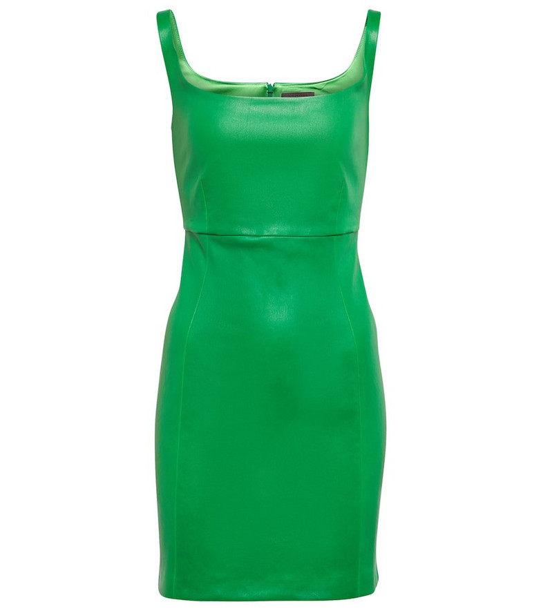 STOULS Exclusive to Mytheresa – Vanessa leather minidress in green