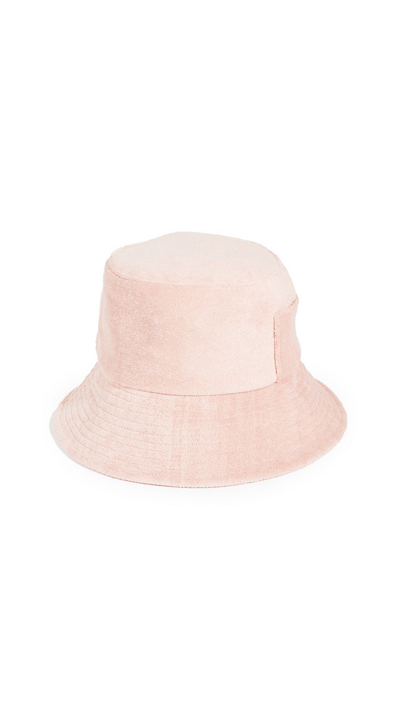Lack Of Color Terry Cloth Wave Bucket Hat in pink