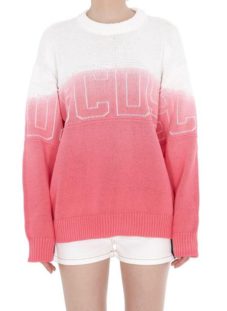 Gcds Logo Sweater in pink