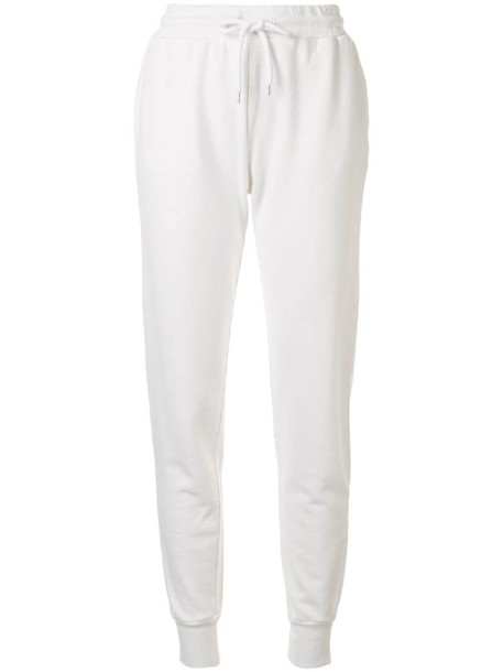 ANINE BING Saylor cotton track pants in white
