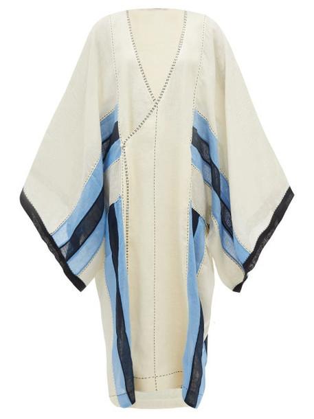 Vita Kin - Striped Linen Wrap Dress - Womens - Cream Multi
