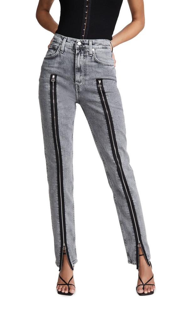 Helmut Lang Femme Hi Spikes Jeans in stone