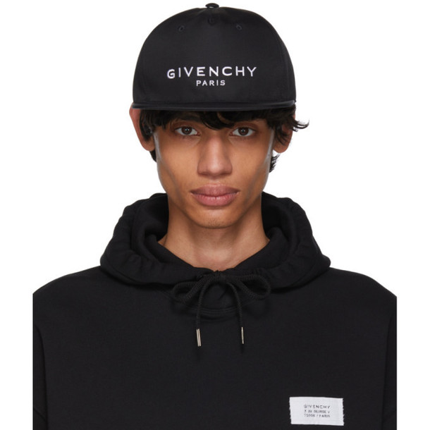 Givenchy Black Flat Peak Logo Cap
