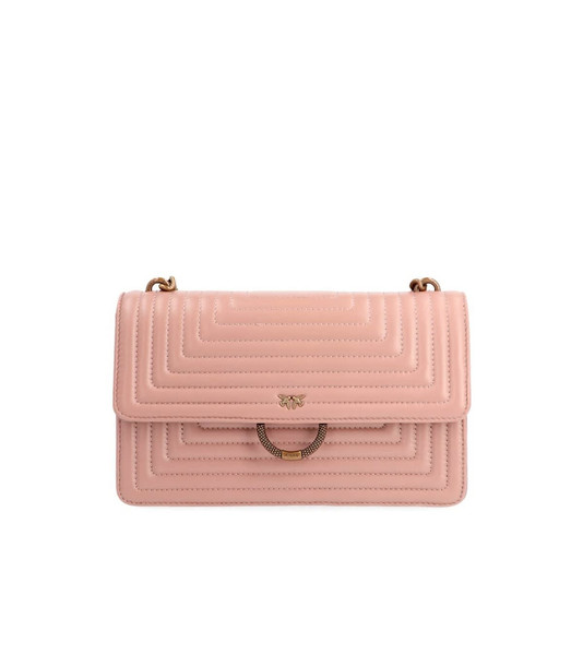 Pinko Nude Pink New Quilting Love Bag