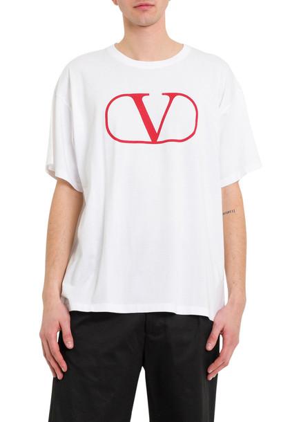 Valentino V Logo Tee in bianco