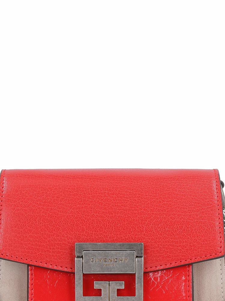 Givenchy Gv3 Leather And Suede Mini-bag in red