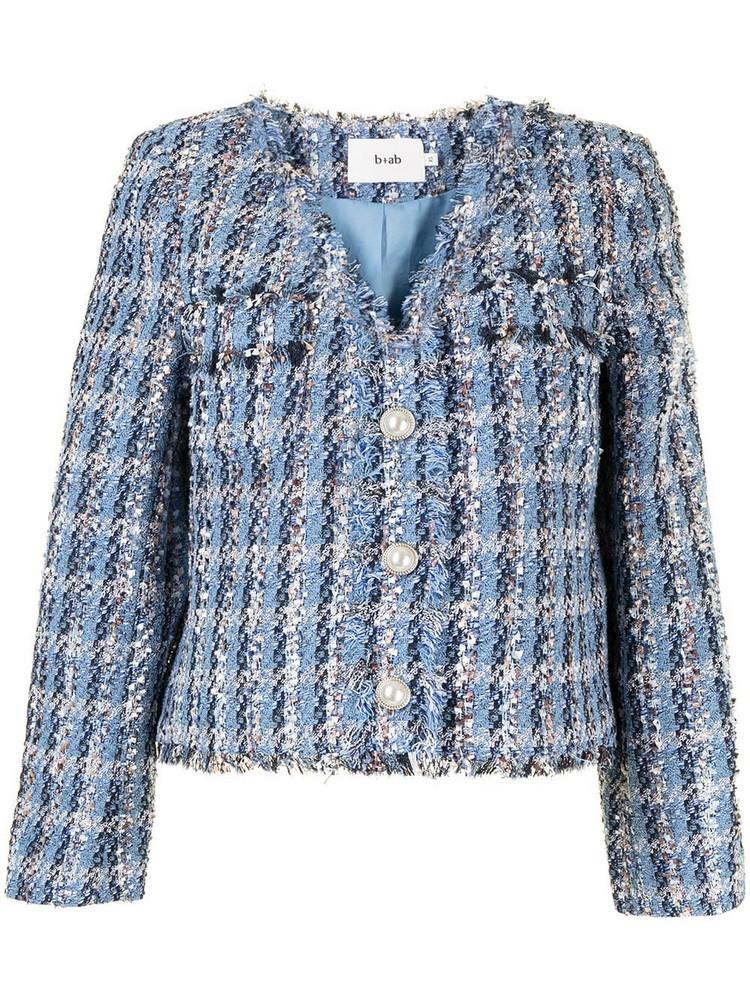 b+ab b+ab button-up tweed jacket - Blue