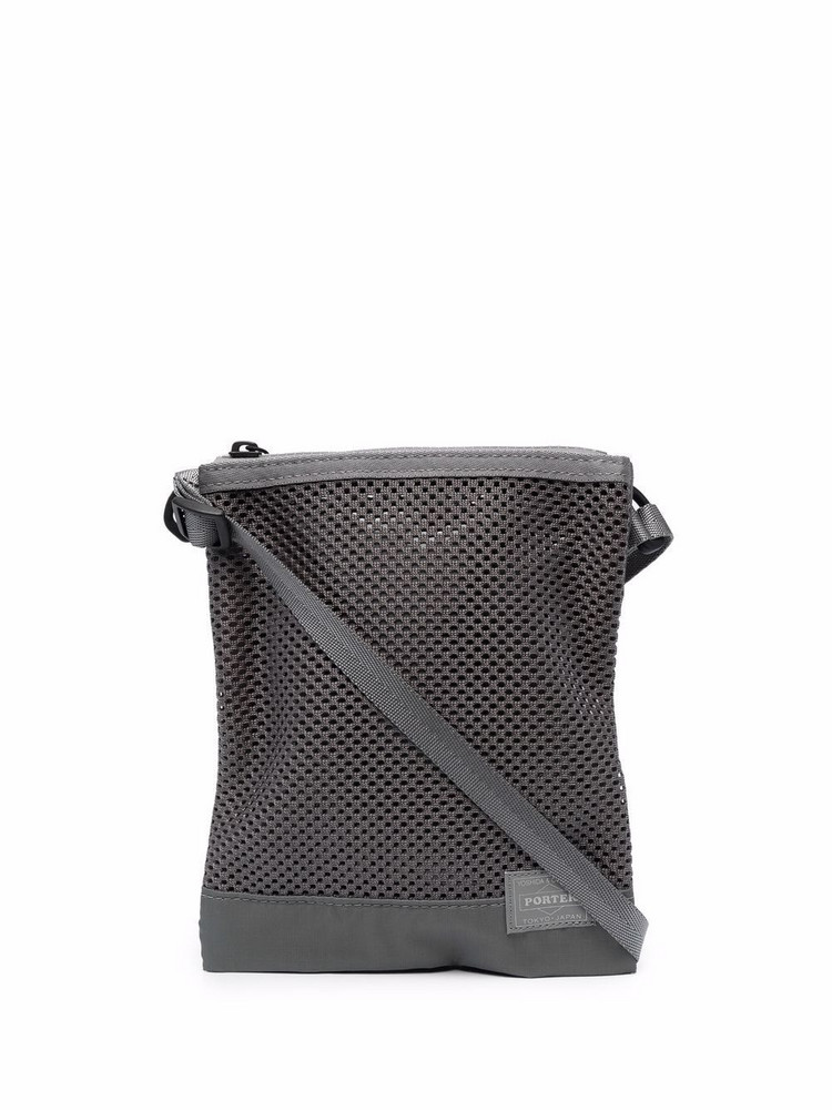 Porter-Yoshida & Co. Porter-Yoshida & Co. Screen logo-patch shoulder satchel - Grey