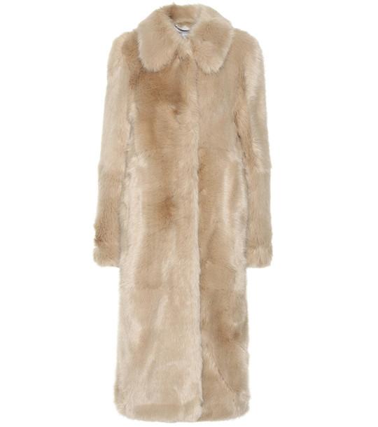 Stella McCartney Faux fur coat in beige