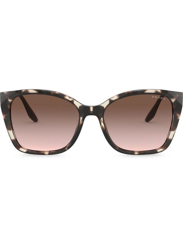 Prada Eyewear square-frame gradient sunglasses in brown