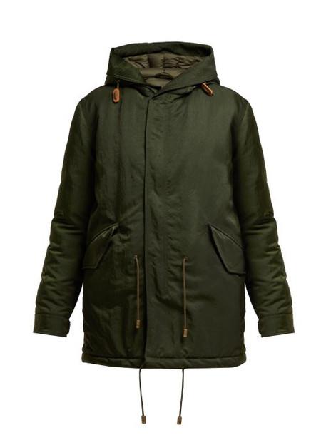 Mr & Mrs Italy - Hooded Padded Parka Coat - Womens - Green