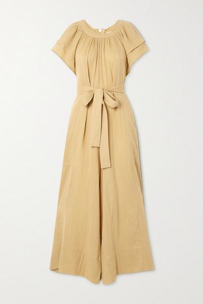 HANNAH ARTWEAR - + Net Sustain Clare Belted Cotton-gauze Jumpsuit - Neutrals