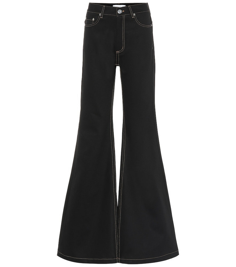 Matthew Adams Dolan High-rise flared jeans in black