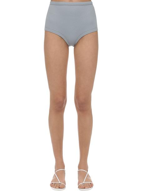 FELLA SWIM High Waist Marco Tile Bikini Bottoms in blue