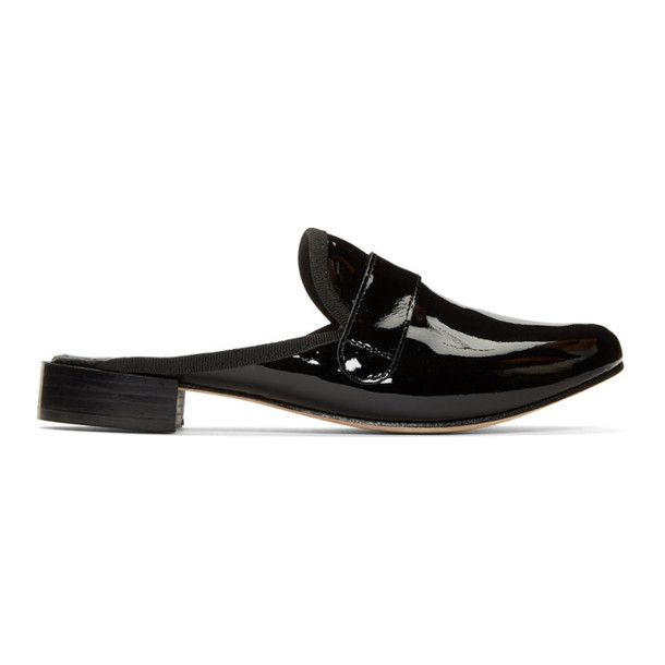 Repetto Black Patent Loly Mules