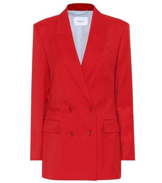 Racil Archie wool blazer in red