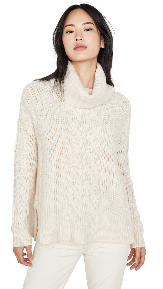 TSE Cashmere Cashmere Poncho Sweater in ivory