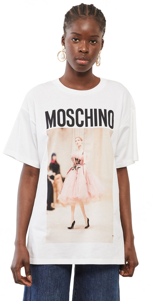 Moschino T-Shirt in white / print